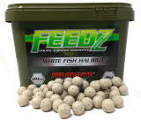 Boilies Feedz 14 mm 4 kg - WHITE FISH HALIBUT - Starbaits