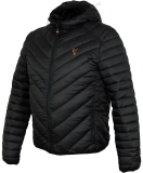 Fox Bunda Collection Quilted Jacket Black Orange - M