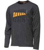 Savage Gear Triko Simply Savage Logo Tee Long Sleeve-Velikost L