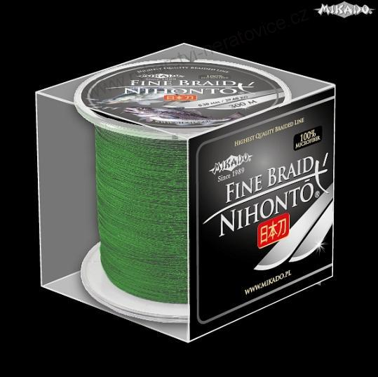 BRAIDED LINE NIHONTO FINE BRAID 016 - 12,50kg - 300m - GREEN