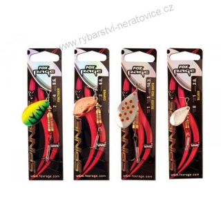 Fox Rage Spinners Silver/Red Size 3/ 6,6g