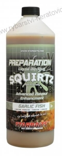 Booster PREP X SQUIRTZ GARLIC FISH 1L Starbaits