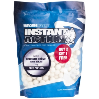 Nash Boilies 15mm 200g Instant Action Coconut Creme