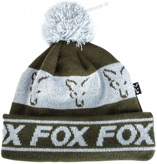 Fox Čepice Green Silver Lined Bobble