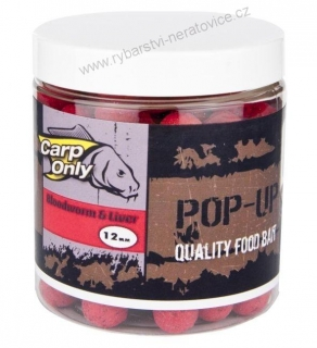 Carp Only pop up boilie Bloodworm-Liver 80g 16mm