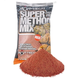 Krmítková směs Super Method Mix Red 2kg Bait-Tech