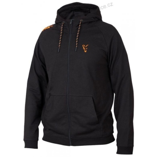 FOX Mikina Orange & Black - L - Lightweight Hoodie