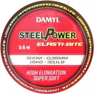 Vlasec DAM Steelpower 0.30mm 12Kg 300m Elasti-Bite