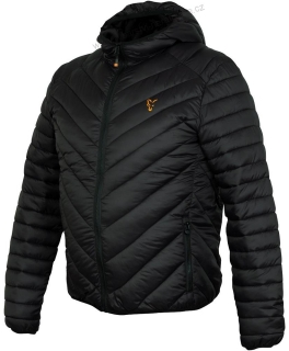 Fox Bunda Collection Quilted Jacket Black Orange - L