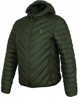 Fox Bunda Collection Quilted Jacket Green Silver - M