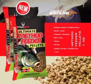 STARFISH METHOD FEEDER PELLETS 1KG 3MM JAHODA