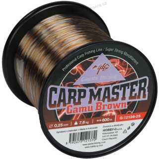 Vlasec Carp Master Camu Brown 0,25mm/7,6kg -  600m - Giants Fishing