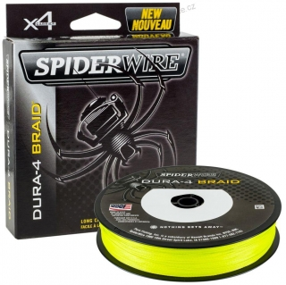 SPIDERWIRE DURA4 YELLOW 150M 0,10MM 9,1KG