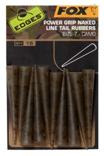 Fox Edges Camo Power Grip Naked Tail Rubber - 15ks